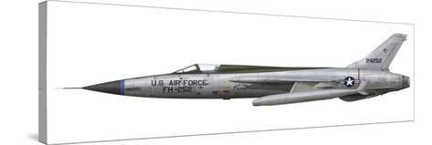 An F-105D Thunderchief Assigned to the Vietnam Air National Guard-Stocktrek Images-Stretched Canvas Print