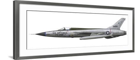 An F-105D Thunderchief Assigned to the Vietnam Air National Guard-Stocktrek Images-Framed Art Print