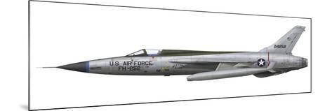 An F-105D Thunderchief Assigned to the Vietnam Air National Guard-Stocktrek Images-Mounted Art Print