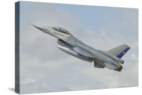 Chilean Air Force F-16 Taking Off from Natal Air Force Base, Brazil-Stocktrek Images-Stretched Canvas Print