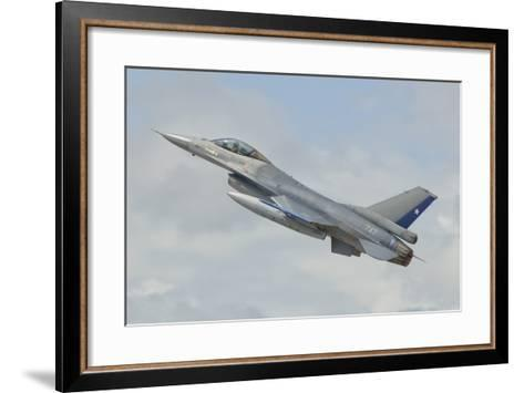 Chilean Air Force F-16 Taking Off from Natal Air Force Base, Brazil-Stocktrek Images-Framed Art Print