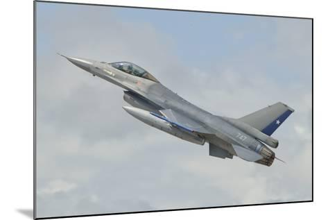 Chilean Air Force F-16 Taking Off from Natal Air Force Base, Brazil-Stocktrek Images-Mounted Photographic Print
