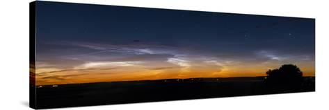 Panorama of Noctilucent Clouds in Alberta, Canada-Stocktrek Images-Stretched Canvas Print