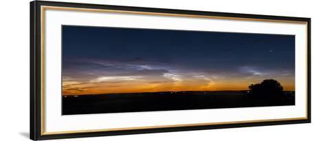 Panorama of Noctilucent Clouds in Alberta, Canada-Stocktrek Images-Framed Art Print