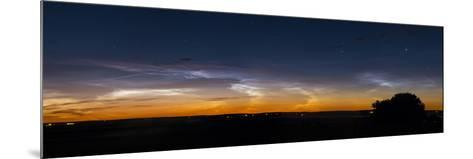 Panorama of Noctilucent Clouds in Alberta, Canada-Stocktrek Images-Mounted Photographic Print