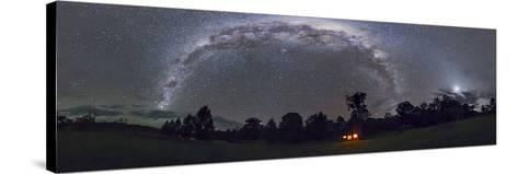 Panorama of the Southern Night Sky in Australia-Stocktrek Images-Stretched Canvas Print