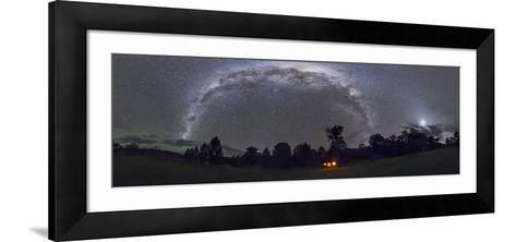 Panorama of the Southern Night Sky in Australia-Stocktrek Images-Framed Art Print