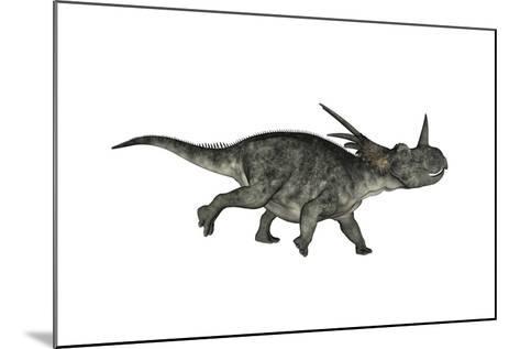 Styracosaurus Dinosaur Running-Stocktrek Images-Mounted Art Print
