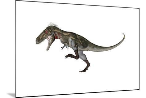Nanotyrannus Dinosaur Roaring-Stocktrek Images-Mounted Art Print