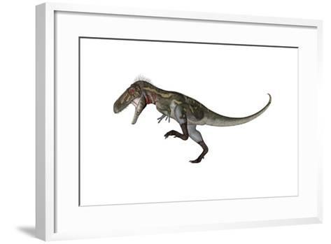 Nanotyrannus Dinosaur Roaring-Stocktrek Images-Framed Art Print