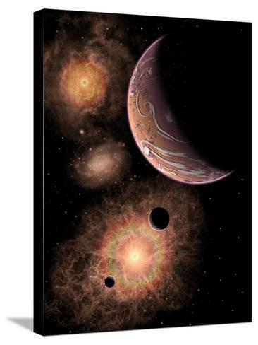 A Distant Alien Solar System in Our Milky Way Galaxy-Stocktrek Images-Stretched Canvas Print