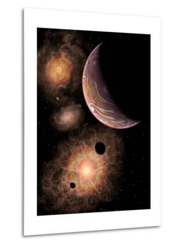 A Distant Alien Solar System in Our Milky Way Galaxy-Stocktrek Images-Metal Print