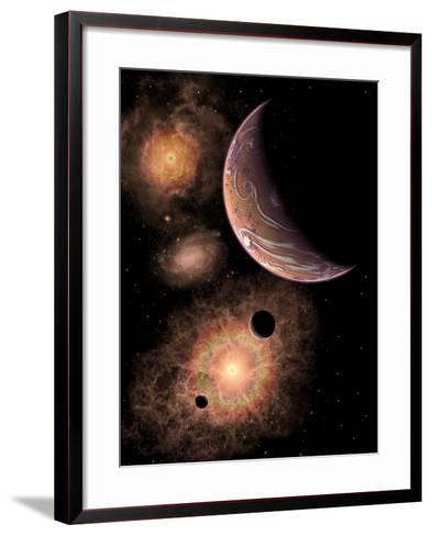 A Distant Alien Solar System in Our Milky Way Galaxy-Stocktrek Images-Framed Art Print