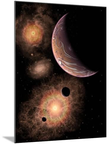 A Distant Alien Solar System in Our Milky Way Galaxy-Stocktrek Images-Mounted Art Print