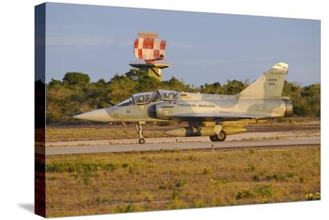 Brazilian Air Force F-2000 Taxiing at Natal Air Force Base, Brazil-Stocktrek Images-Stretched Canvas Print