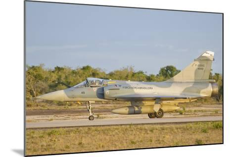 Brazilian Air Force Mirage 2000 at Natal Air Force Base, Brazil-Stocktrek Images-Mounted Photographic Print