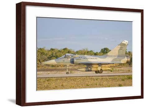 Brazilian Air Force Mirage 2000 at Natal Air Force Base, Brazil-Stocktrek Images-Framed Art Print