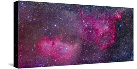 The Heart and Soul Nebulae in the Constellation Cassiopeia-Stocktrek Images-Stretched Canvas Print