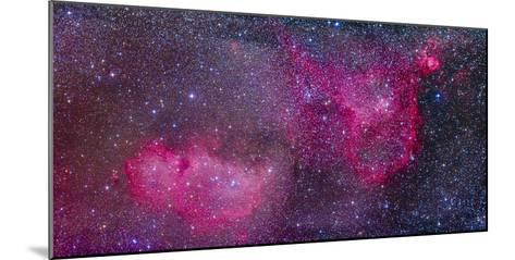 The Heart and Soul Nebulae in the Constellation Cassiopeia-Stocktrek Images-Mounted Photographic Print