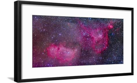 The Heart and Soul Nebulae in the Constellation Cassiopeia-Stocktrek Images-Framed Art Print