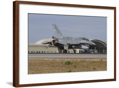 Chilean Air Force F-16D Block 50 Takes-Off from Natal Air Force Base-Stocktrek Images-Framed Art Print