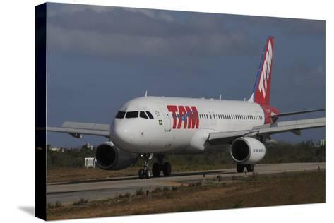 Airbus A320 from Tam Airlinse Taken at Natal Airport, Brazil-Stocktrek Images-Stretched Canvas Print