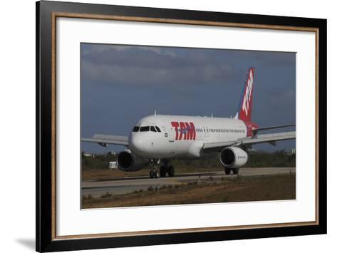 Airbus A320 from Tam Airlinse Taken at Natal Airport, Brazil-Stocktrek Images-Framed Art Print