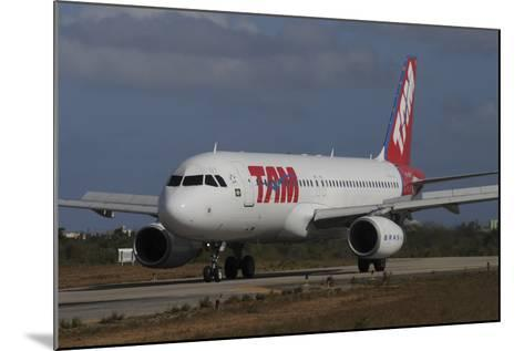 Airbus A320 from Tam Airlinse Taken at Natal Airport, Brazil-Stocktrek Images-Mounted Photographic Print