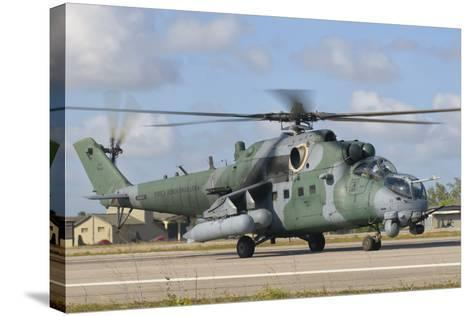Brazilian Air Force Mi-35 at Natal Air Force Base, Brazil-Stocktrek Images-Stretched Canvas Print