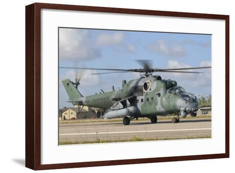 Brazilian Air Force Mi-35 at Natal Air Force Base, Brazil-Stocktrek Images-Framed Art Print