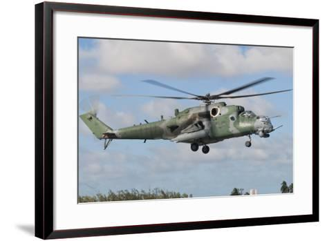 Brazilian Air Force Mi-35 at Natal Air Force Base, Brazil-Stocktrek Images-Framed Art Print