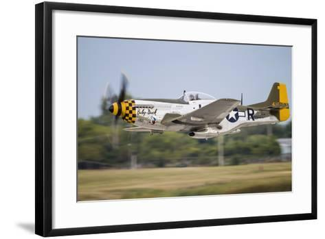 A P-51 Mustang Takes Off from Waukegan, Illinois-Stocktrek Images-Framed Art Print