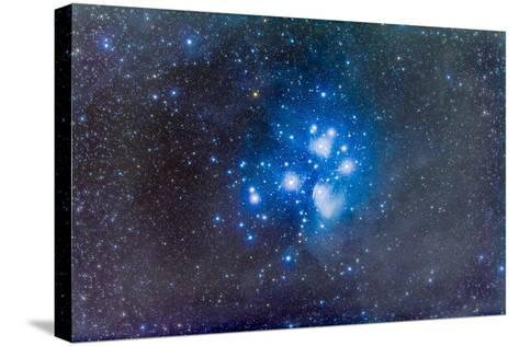 The Pleiades, also known as the Seven Sisters-Stocktrek Images-Stretched Canvas Print