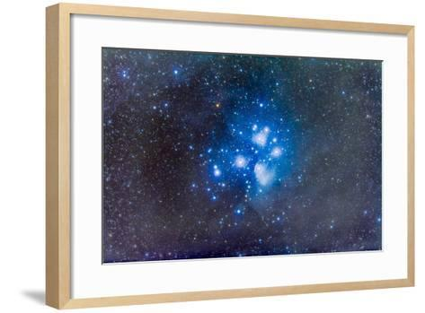 The Pleiades, also known as the Seven Sisters-Stocktrek Images-Framed Art Print