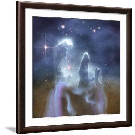 Pillars of Creation in the Eagle Nebula-Stocktrek Images-Framed Art Print