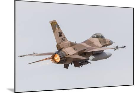 An Aggressor F-16C Fighting Falcon of the U.S. Air Force-Stocktrek Images-Mounted Photographic Print