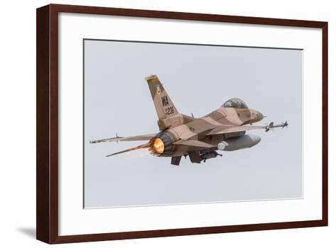 An Aggressor F-16C Fighting Falcon of the U.S. Air Force-Stocktrek Images-Framed Art Print