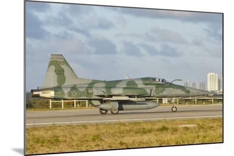 Brazilian Air Force F-5 at Natal Air Force Base, Brazil-Stocktrek Images-Mounted Photographic Print