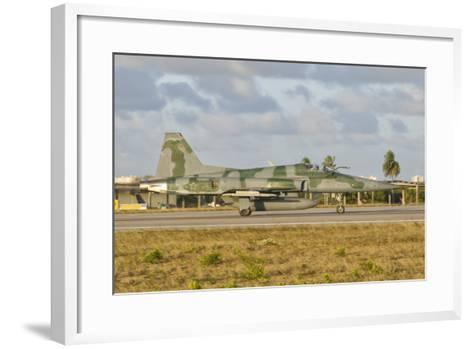 Brazilian Air Force F-5 at Natal Air Force Base, Brazil-Stocktrek Images-Framed Art Print