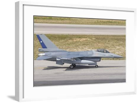 Chilean Air Force F-16 at Natal Air Force Base, Brazil-Stocktrek Images-Framed Art Print