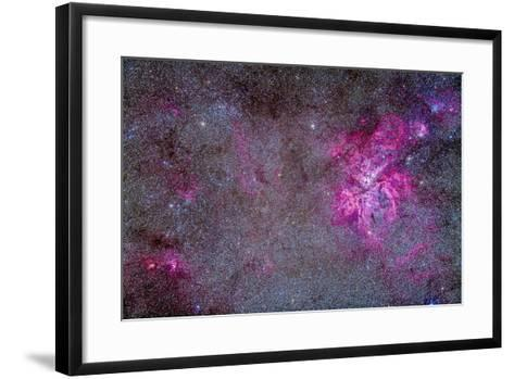 The Carina Nebula and Surrounding Clusters-Stocktrek Images-Framed Art Print