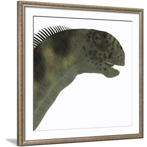 Camarasaurus Dinosaur Head-Stocktrek Images-Framed Art Print