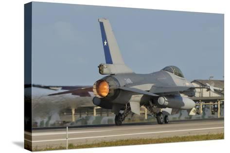 Chilean Air Force F-16 at Natal Air Force Base, Brazil-Stocktrek Images-Stretched Canvas Print