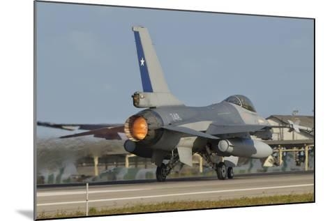 Chilean Air Force F-16 at Natal Air Force Base, Brazil-Stocktrek Images-Mounted Photographic Print