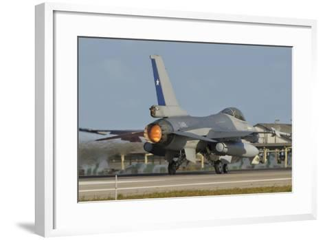 Chilean Air Force F-16 at Natal Air Force Base, Brazil-Stocktrek Images-Framed Art Print