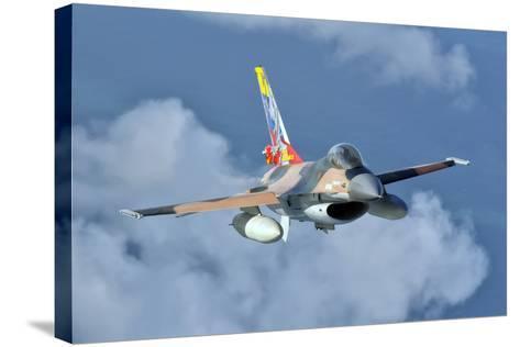 Venezuelan Air Force F-16 in Flight over Brazil-Stocktrek Images-Stretched Canvas Print
