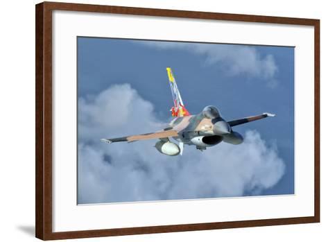 Venezuelan Air Force F-16 in Flight over Brazil-Stocktrek Images-Framed Art Print