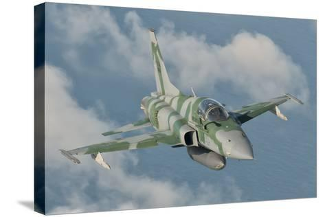 Brazilian Air Force F-5 in Flight over Brazil-Stocktrek Images-Stretched Canvas Print