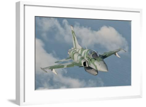 Brazilian Air Force F-5 in Flight over Brazil-Stocktrek Images-Framed Art Print
