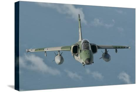 Brazilian Air Force Amx in Flight over Brazil-Stocktrek Images-Stretched Canvas Print